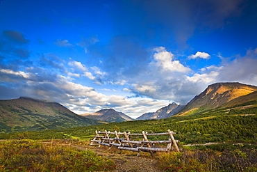 Flattop And Chugach Mountains In Evening Light, Chugach State Park, Alaska, United States Of America