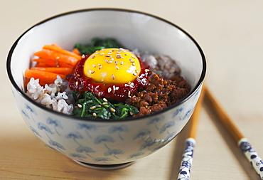 Bibimbap, Korean Dish, Edmonton, Alberta, Canada