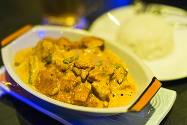 Khmer Chicken Curry From Local Restaurant, Battambang, Cambodia