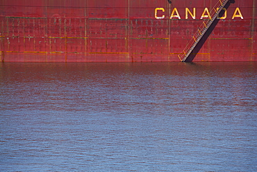 Ship On St. Lawrence River, Montreal, Quebec, Canada