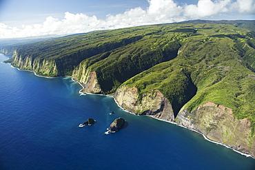 Hamakua Coast Offshore Of North Kohala, Island Of Hawaii, Hawaii, United States Of America