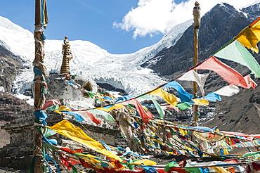 Tibetan Stupa In Kharola Glacier, Tibetan Friendship Highway, Tibet, China