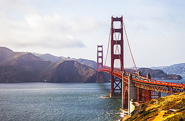 View Of The Golden Gate Bridge From Fort Point, San Francisco, California, United States Of America