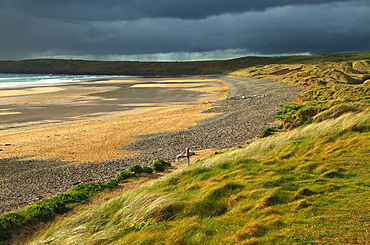 Freshwater West Beach On The Pembrokeshire Coastal Path In Southwest Wales, Wales