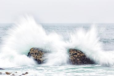 Waves Crash Over Rocks, Namakwaland National Park, South Africa
