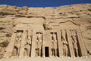 Hathor Temple Of Queen Nefertari, Abu Simbel Temples, Egypt