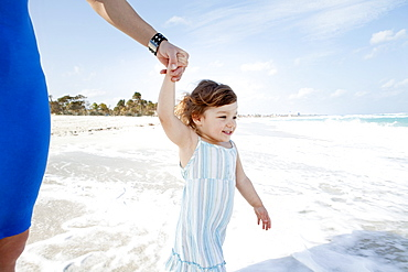 Young Child Discovering The Sea, Varadero, Cuba