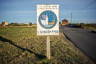 Roadside Sign Entering Dungeness, Dungeness, Kent, England