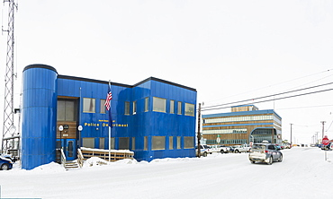 Police Department, Barrow, Arctic Alaska, Winter