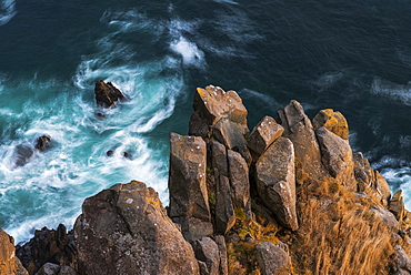 Rocks And Surf Are Spectacular At Oswald West State Park, Oregon, United States Of America