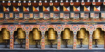 Prayer Wheels, Punakha, Bhutan
