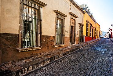 Cobblestone Street, San Miguel De Allende, Guanajuato, Mexico