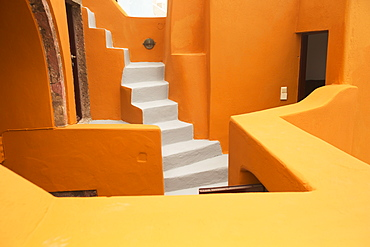 Colourful Residential Buildings And Steps, Oia, Santorini, Greece