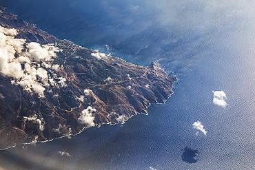 Aerial View Of The Greece Coastline, Greece