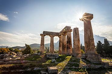 Temple Of Apollo, Corinth, Greece