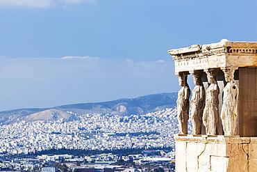 Caryatid Porch Of The Erechtheion, Athens, Greece