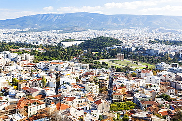 View From The Temple Of Olympian Zeus, Athens, Greece