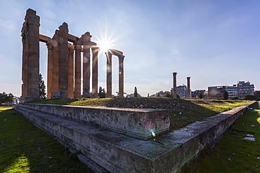 This Temple Of Zeus, Also Known As The Olympieion, Is An Greco-Roman Temple In The Centre Of Athens, Athens, Greece