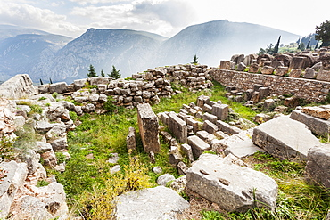 Treasury Of Corinthians, Delphi, Greece