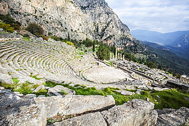 Ruins Of Delphi Theatre, Delphi, Greece