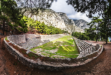 Ruins Of A Racing Track And Seating, Delphi, Greece