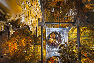 Interior Of Monastery Of Varlaam, Meteora, Greece