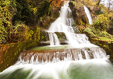 Waterfalls From The Edessaios River With Autumn Coloured Foliage, Edessa, Greece