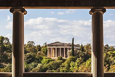 Temple Of Hephaestus, Greek Orthodox Church Of St. George Akamates, Athens, Greece