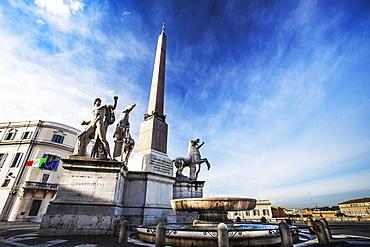 Obelisk In Palazzo Del Quirinale, Rome, Italy