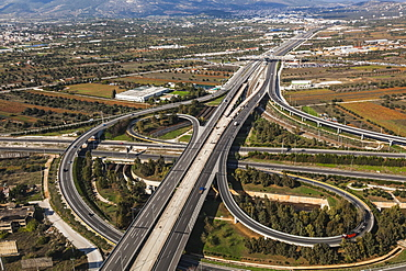 Aerial View Of A Highway, Greece