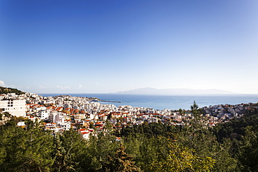 Cityscape And Harbour Of Kavala, Kavala, Greece