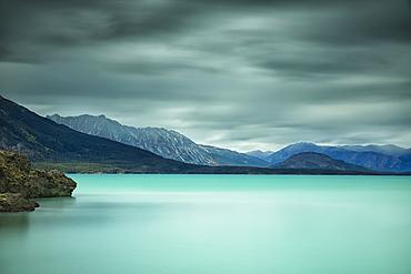 Long Exposure Over Top Of Atlin Lake, British Columbia, Canada