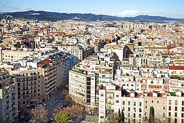 View Of Barcelona From Agbar Tower, Barcelona, Catalonia, Spain