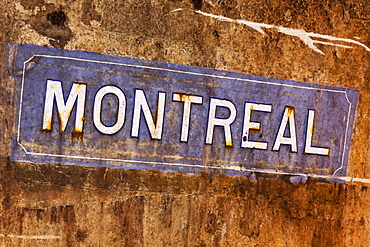 Montreal Sign In Pommery's Wine Cellars, Reims, Champagne, France