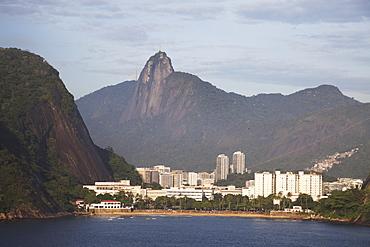 Tiburcio Beach And Christ The Redeemer Statue, Rio De Janeiro, Brazil