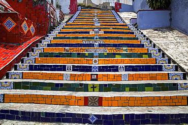 Escadaria Selaron Steps In Lapa, Rio De Janeiro, Brazil