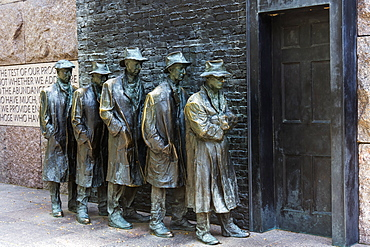Bronze Statue Depicting People Waiting On A Bread Line During The Great Depression, Franklin Delano Roosevelt Memorial, Washington, District Of Columbia, United States Of America