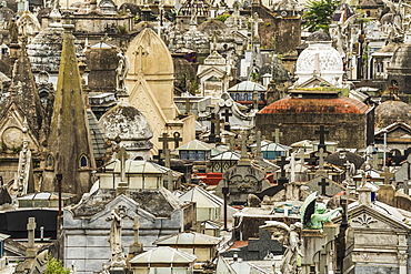 Tombs With Crosses At La Recoleta Cemetery, Buenos Aires, Argentina