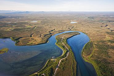 Aerial View Of Naknek River, Southwest Alaska