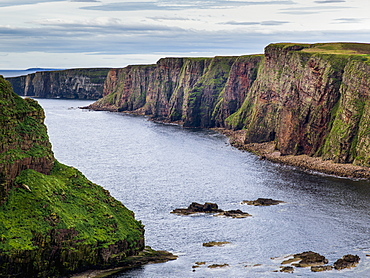 Cliffs Along The Coastline And The North Sea, Duncansby Head, John O'groats, Scotland
