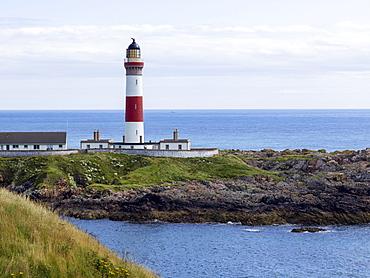 Buchan Ness Lighthouse On Moray Firth Coast, Aberdeenshire, Scotland