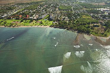 Aerial View Of Waipuilani Park, Kihei, Maui, Hawaii, United States Of America