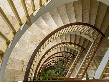 Looking Down A Spiral Staircase, Andalusia, Spain