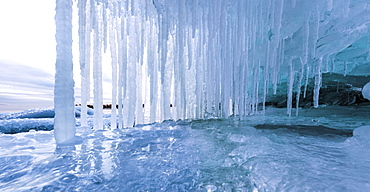 Icicles On Lake Superior, Thunder Bay, Ontario, Canada