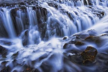 Water Cascading Over Rugged Rocks, Bruarfoss, Iceland