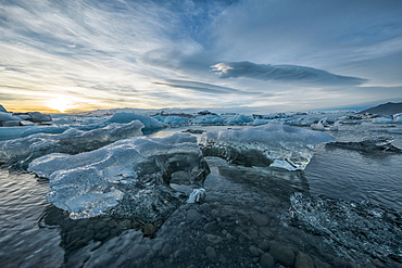 The Icebergs Of The Ice Lagoon Known As Jokulsarlon Along The South Coast Of Iceland, Iceland