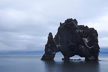 The Sea Stack Known As Hvitserkur, Iceland