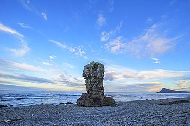 The Sea Stacks Known As Thrjatiudalastapi, West Fjords, Iceland