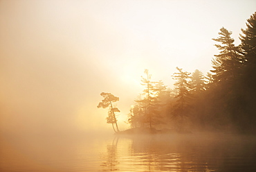Sunrise On The Severn River At The Mouth Of Wood Bay, Ontario, Canada