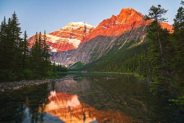 Mount Edith Cavelle In Jasper National Park, Alberta, Canada